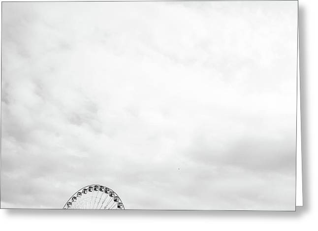 Ferris Wheel Clouds Greeting Card