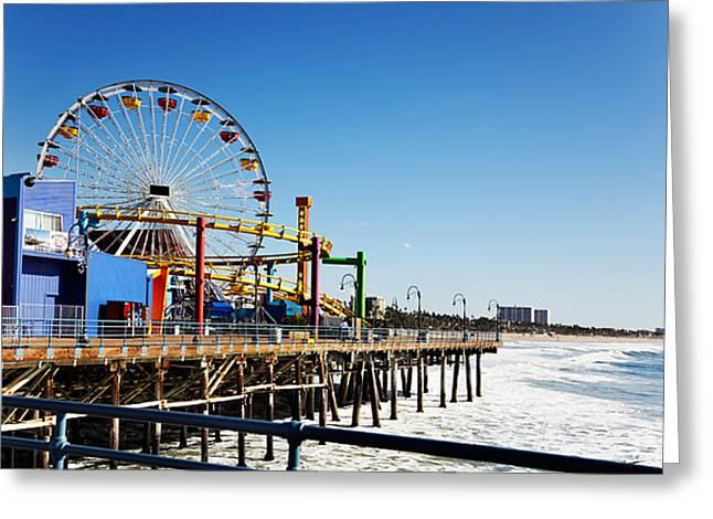 Ferris Wheel On Santa Monica Pier, Los Greeting Card
