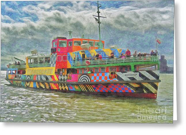 Greeting Card featuring the photograph Ferry Across The Mersey by Leigh Kemp