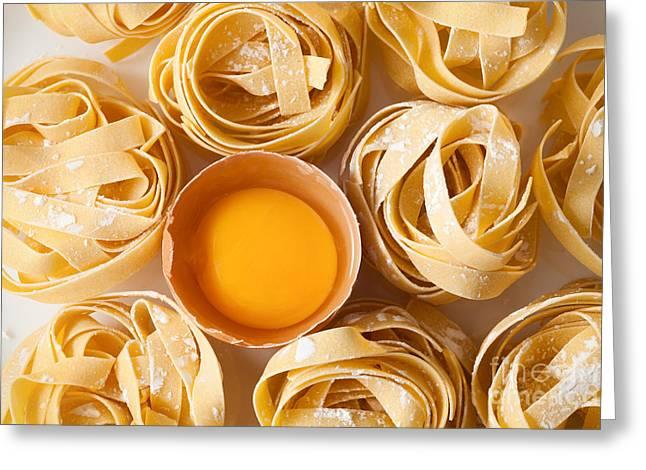 Fettuccine Pasta Italian Food Still Greeting Card