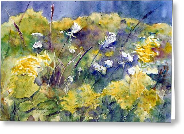 Fields Of White And Gold Greeting Card