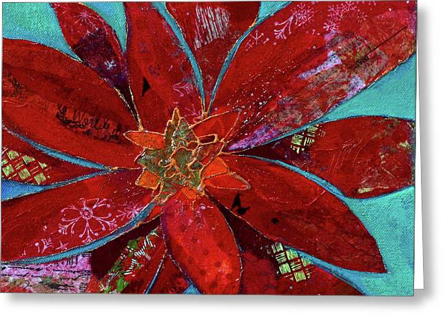 Fiery Bromeliad II Greeting Card