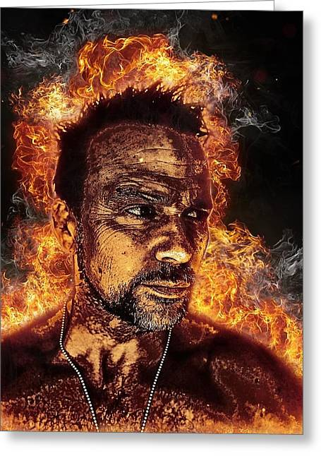 Fiery Flanery Greeting Card