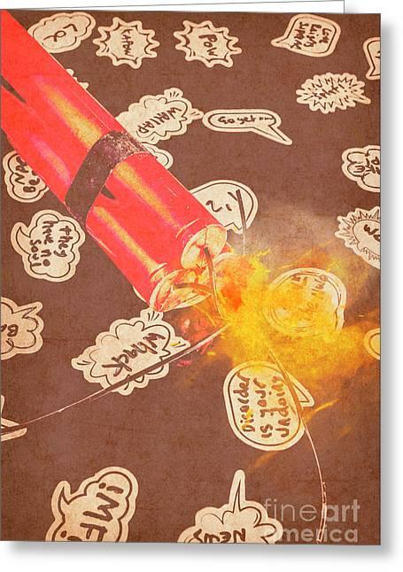 Fiery Fuse Greeting Card