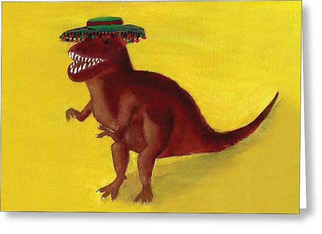 Fies-t-rex Greeting Card