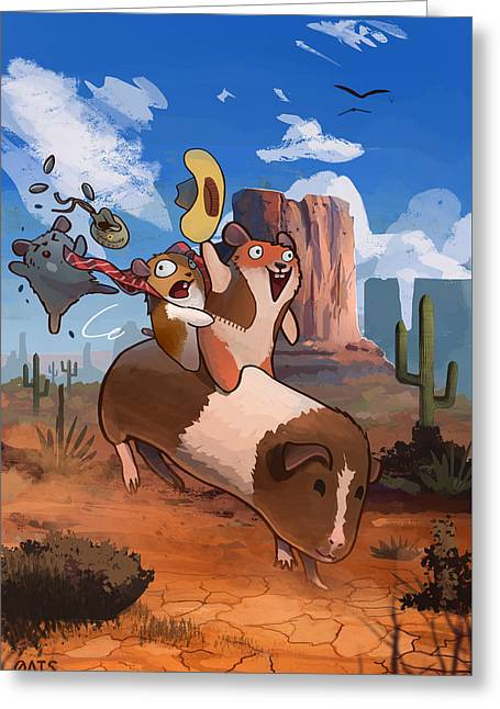 Fifi Goes West Greeting Card