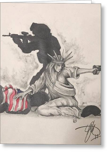 Fighting For Liberty  Greeting Card