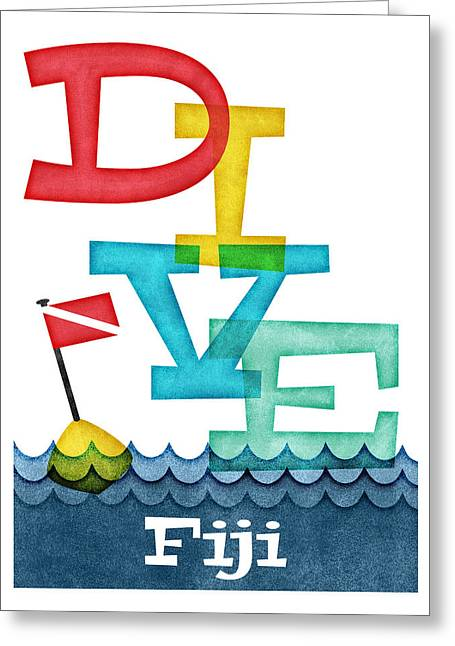 Fiji Dive - Colorful Scuba Greeting Card