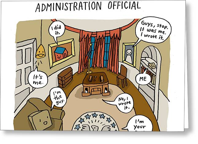 Find The Senior Administration Official Greeting Card