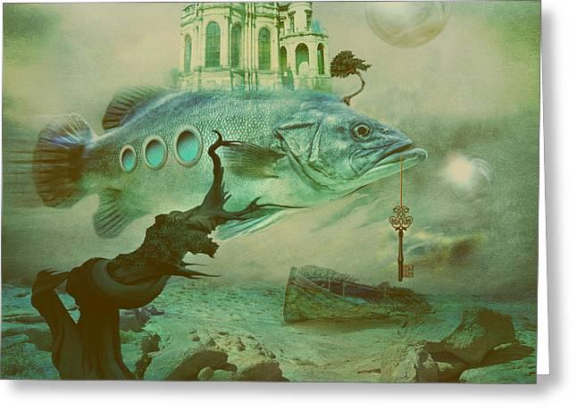 Greeting Card featuring the digital art Finding Captain Nemo by Alexa Szlavics