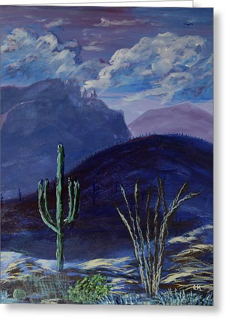 Finger Rock Evening, Tucson Greeting Card