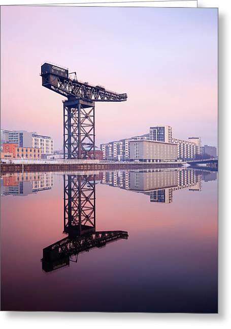 Finnieston Crane Reflection Greeting Card