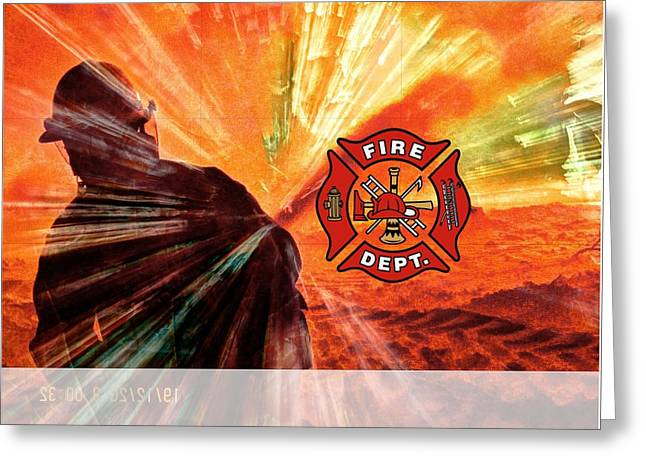 Fire Fighting 1 Greeting Card
