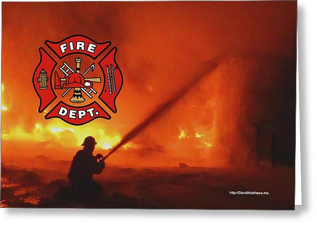 Fire Fighting 5 Greeting Card