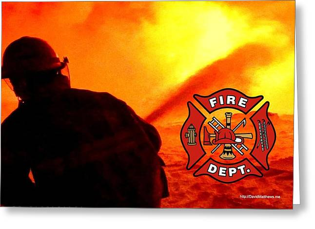 Fire Fighting 6 Greeting Card