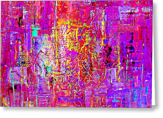 Fire In My Heart Abstract Greeting Card