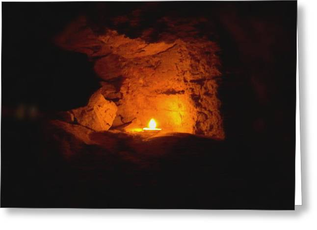 Greeting Card featuring the photograph Fire Inside by Lucia Sirna