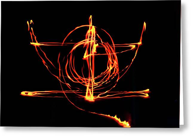 Fire Light Drawing Greeting Card