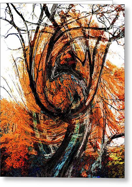 Greeting Card featuring the photograph Fire Tree 2 by Michael Arend