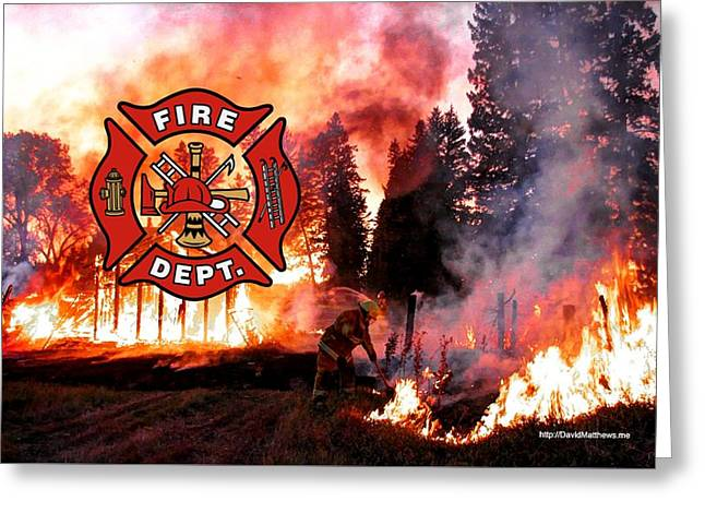 Firefighting 2 Greeting Card