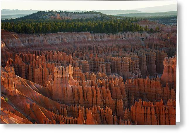 First Light On The Hoodoo Inspiration Point Bryce Canyon National Park Greeting Card