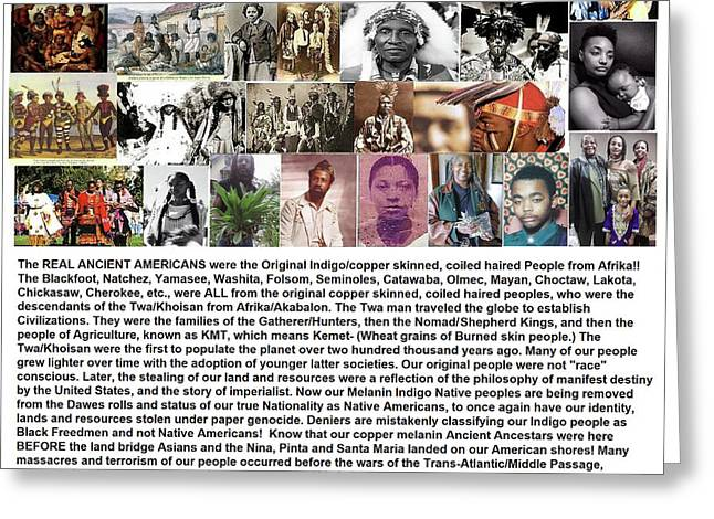 First Native Americans Were Indigo Twa Black Afrikans Greeting Card