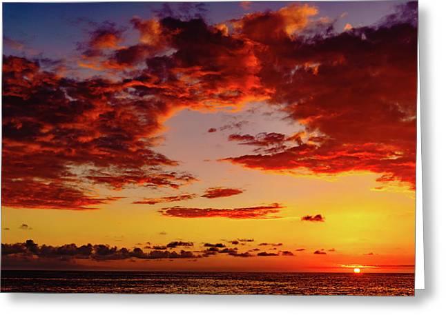 First November Sunset Greeting Card