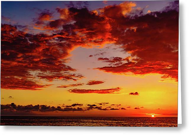 First November Sunset Greeting Card