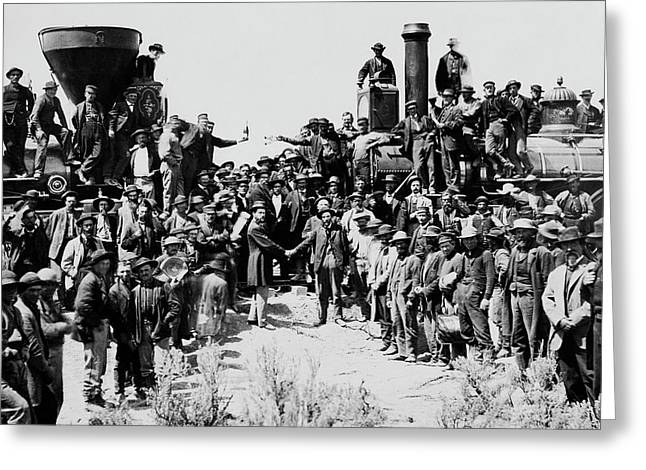First Opening Of The Transcontinental Railroad - 1869 Greeting Card