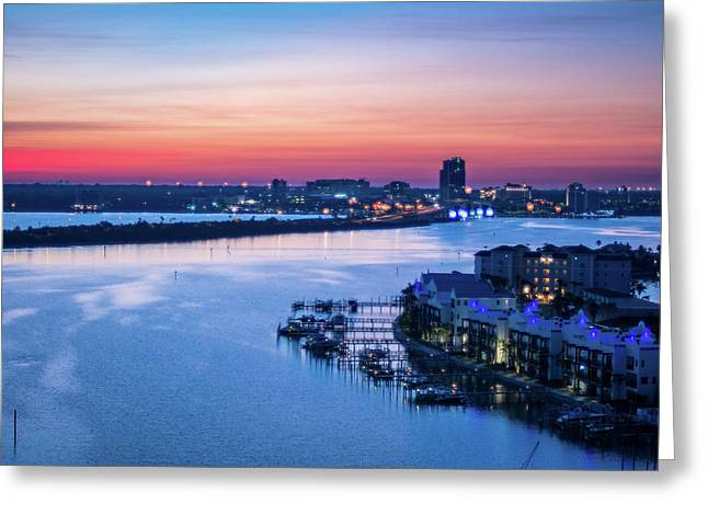 Firstlight Over Clearwater Greeting Card
