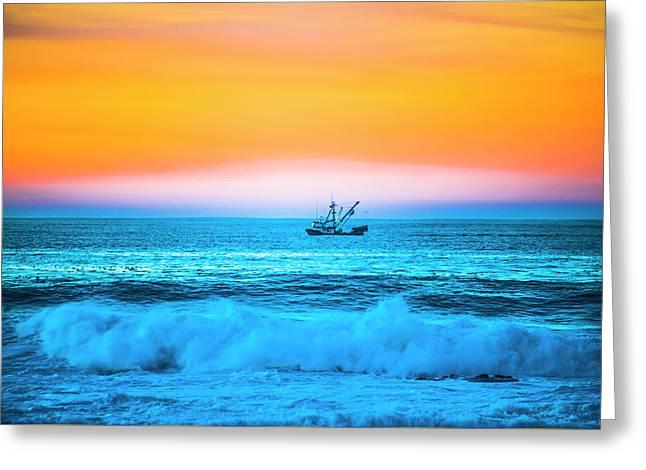 Fishing Boat Greeting Card by Fernando Margolles