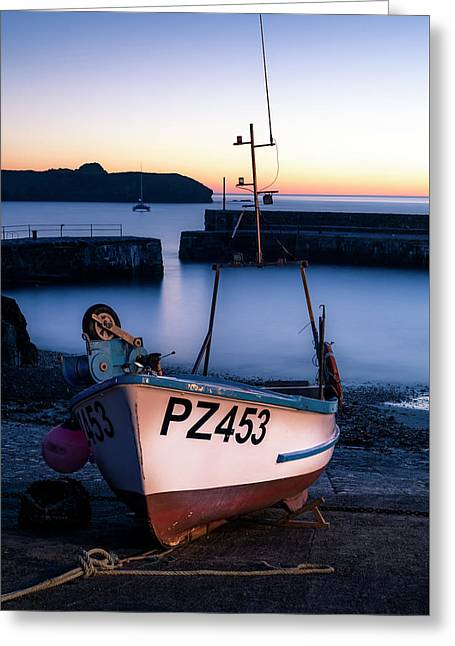 Fishing Boat In Mullion Cove Greeting Card
