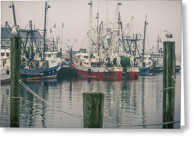 Greeting Card featuring the photograph Fishing Boats by Steve Stanger