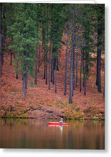 Fishing Fenton Lake Greeting Card