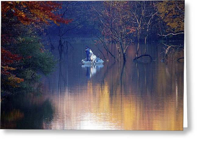 Greeting Card featuring the photograph Fishing In The Fall by Mike Murdock
