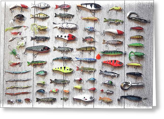Fishing Lures - Dwp2669219 Greeting Card