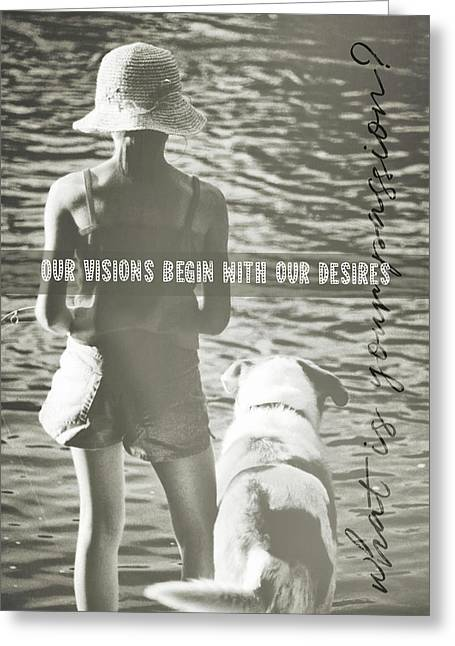 Fishing With The Pup Quote Greeting Card by JAMART Photography