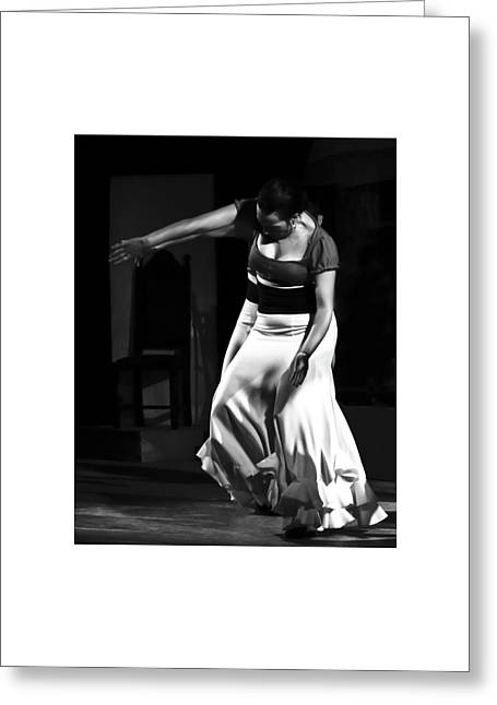 Greeting Card featuring the photograph Flamenco 40 by Catherine Sobredo