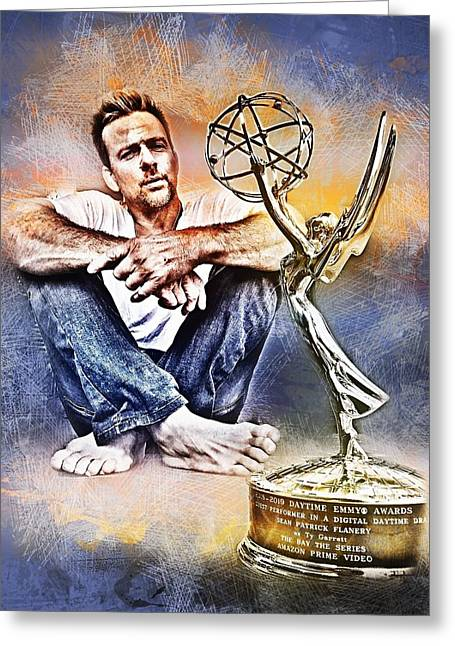 Flanery Won Emmy Greeting Card