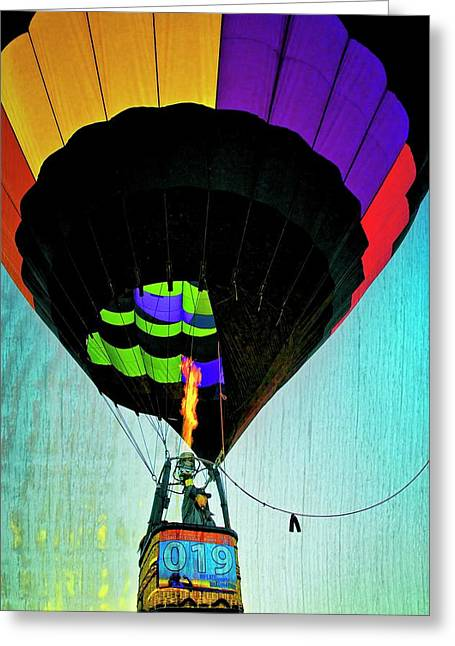 Flight Control, Hot Air Balloon Greeting Card