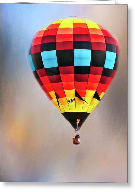 Flight Of Fantasy, Hot Air Balloon Greeting Card