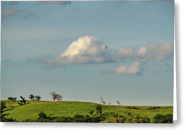 Greeting Card featuring the photograph Flint Hills Horizon by Jeff Phillippi