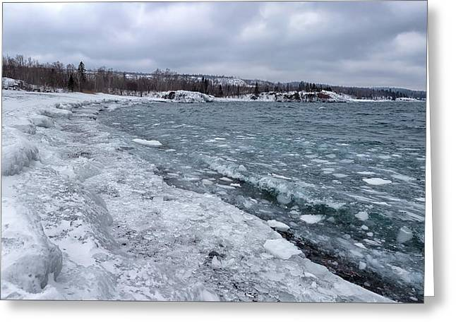 Greeting Card featuring the photograph Floating Ice by Susan Rissi Tregoning
