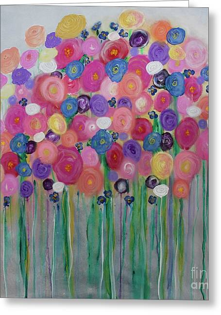 Floral Balloon Bouquet Greeting Card