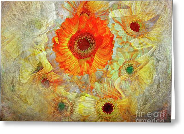 Greeting Card featuring the digital art Floral Joy by Edmund Nagele