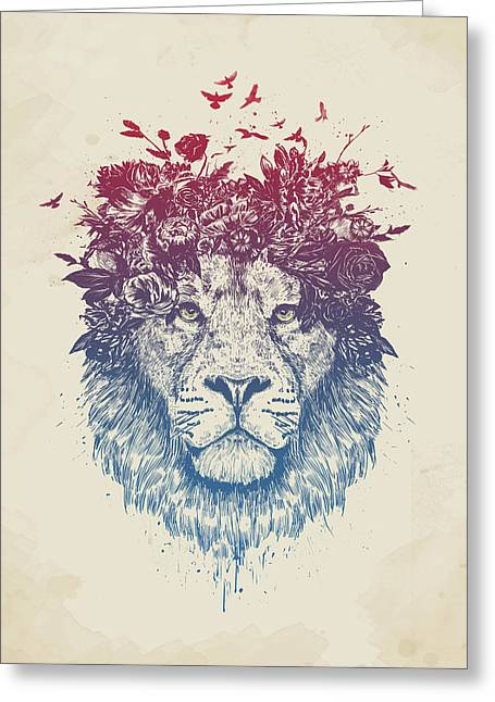 Floral Lion IIi Greeting Card