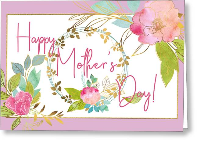 Floral Mother's Day Art Greeting Card