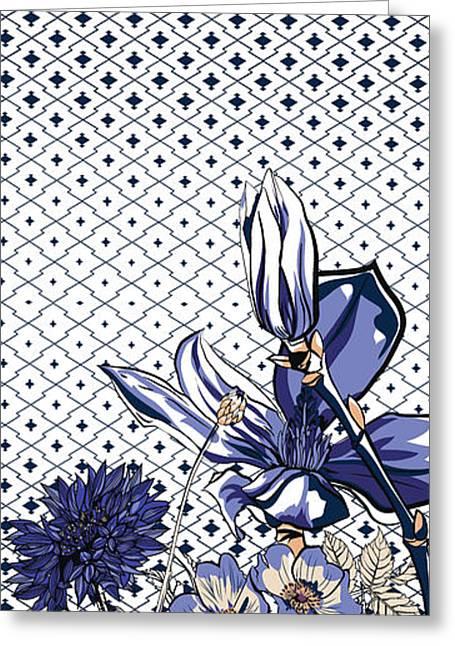 Floral Print Greeting Card