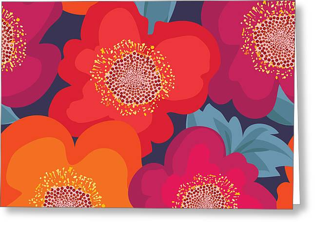 Floral Seamless Pattern. Flower Greeting Card