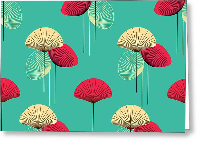 Floral Seamless Vector Pattern Greeting Card